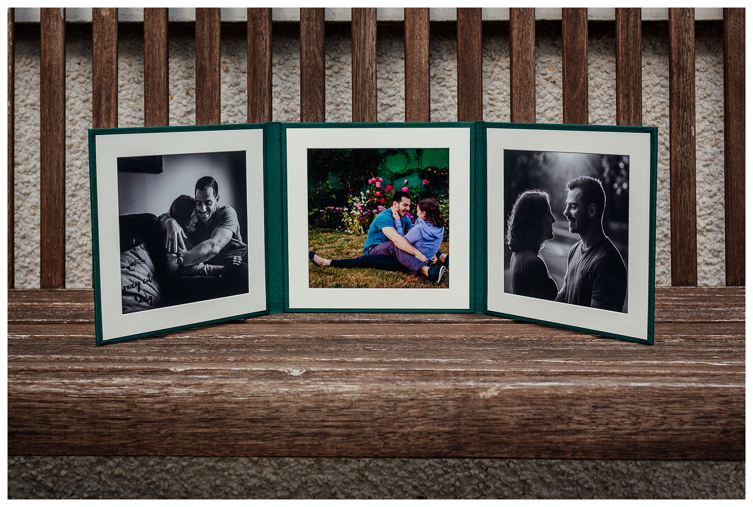 engagement shoot photo products trifold by Fotomaki Photography