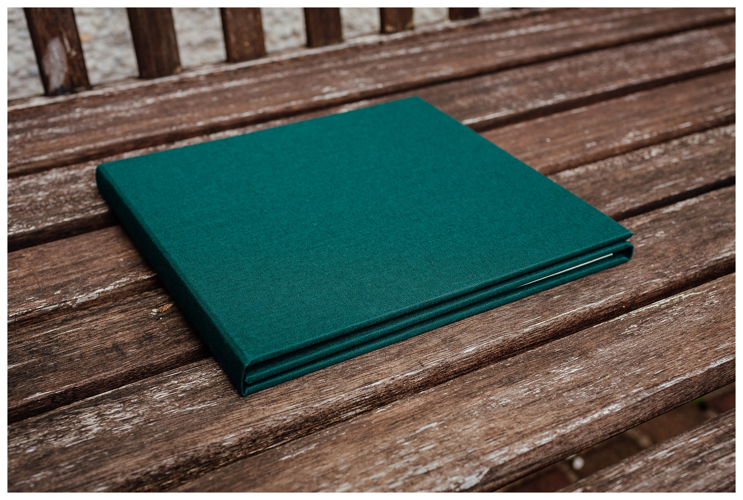 engagement shoot photo products trifold linen cover by Fotomaki Photography