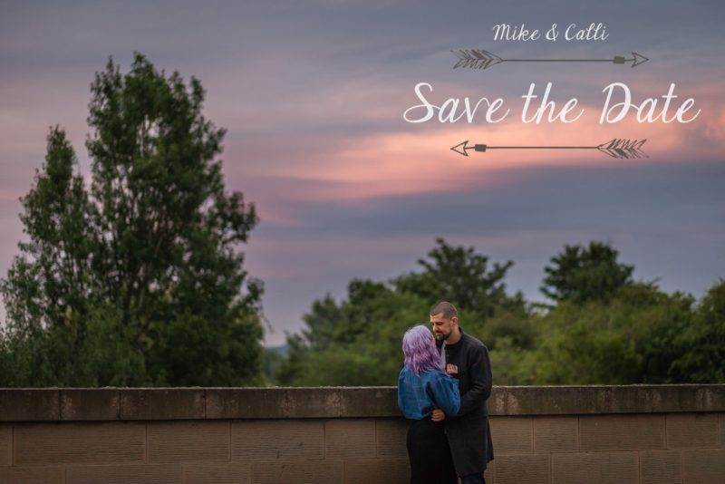 Custom Engagement Photo Save the Dates
