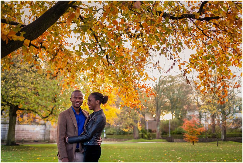 Aberdeen University Couples Engagement Portraits Shoot Photos