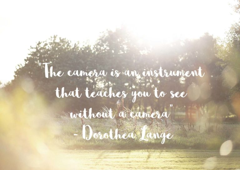 Dorothea Lange Quote. Photo by Fotomaki Photography