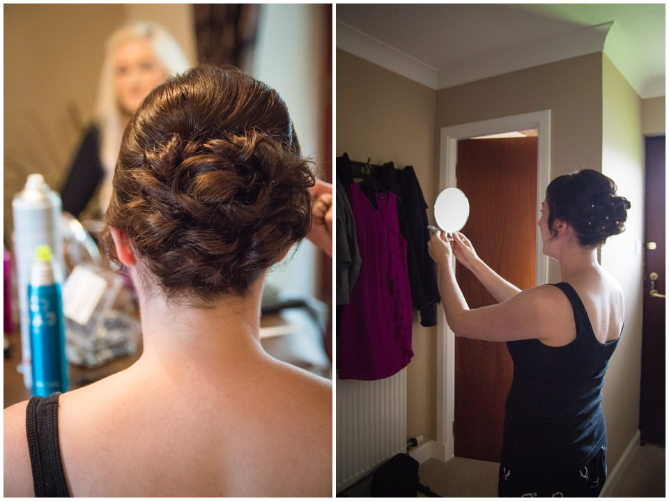 Banchory Lodge Wedding Aberdeen Prep Getting Ready Hair Makeup