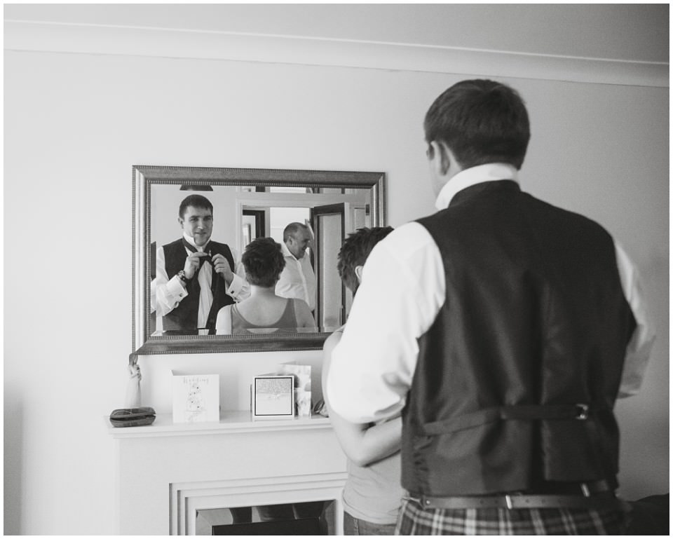 Banchory Lodge Wedding Aberdeen Prep Getting Ready Groomsmen Kilts