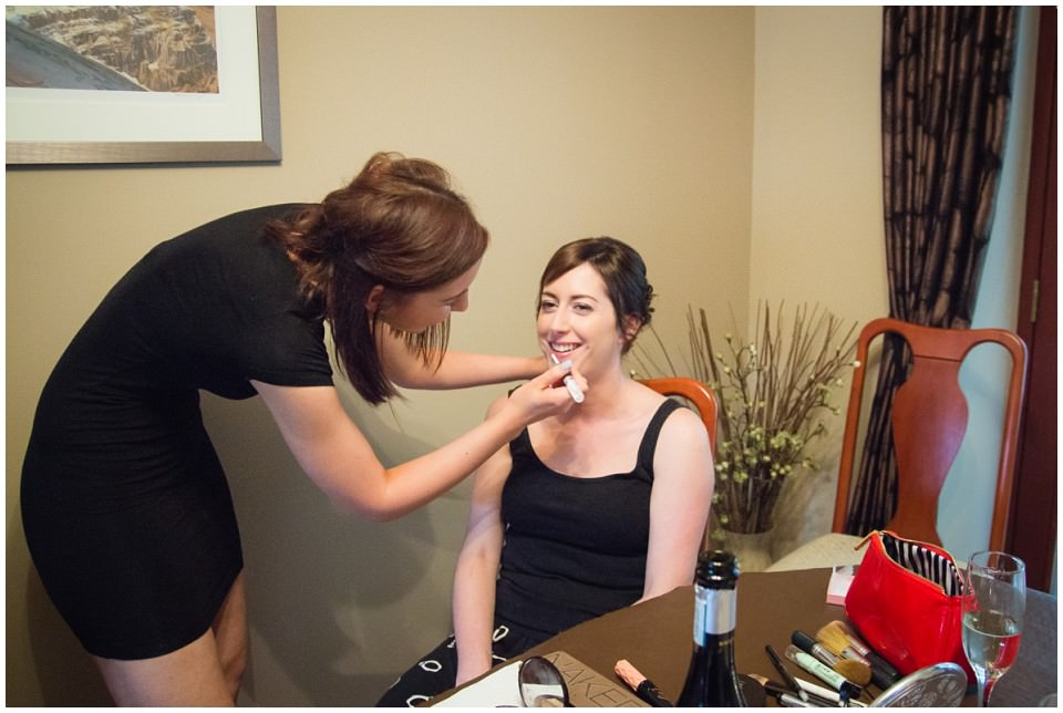 Banchory Lodge Wedding Aberdeen Prep Getting Ready MakeUp