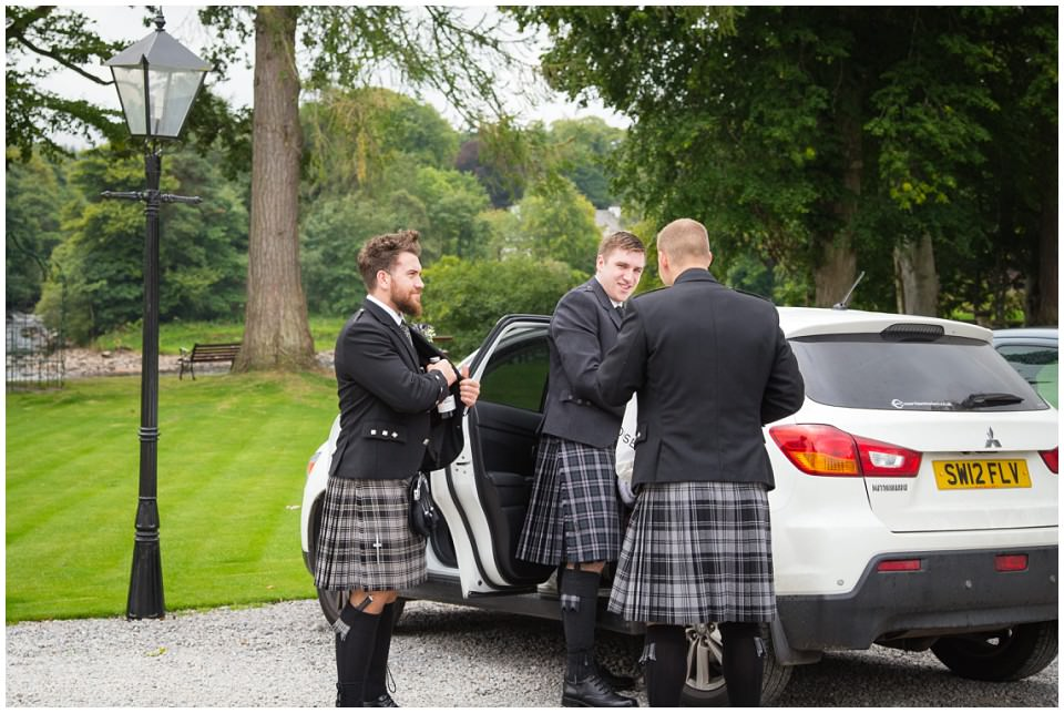 Banchory Lodge Wedding Aberdeen Groomsmen Kilts