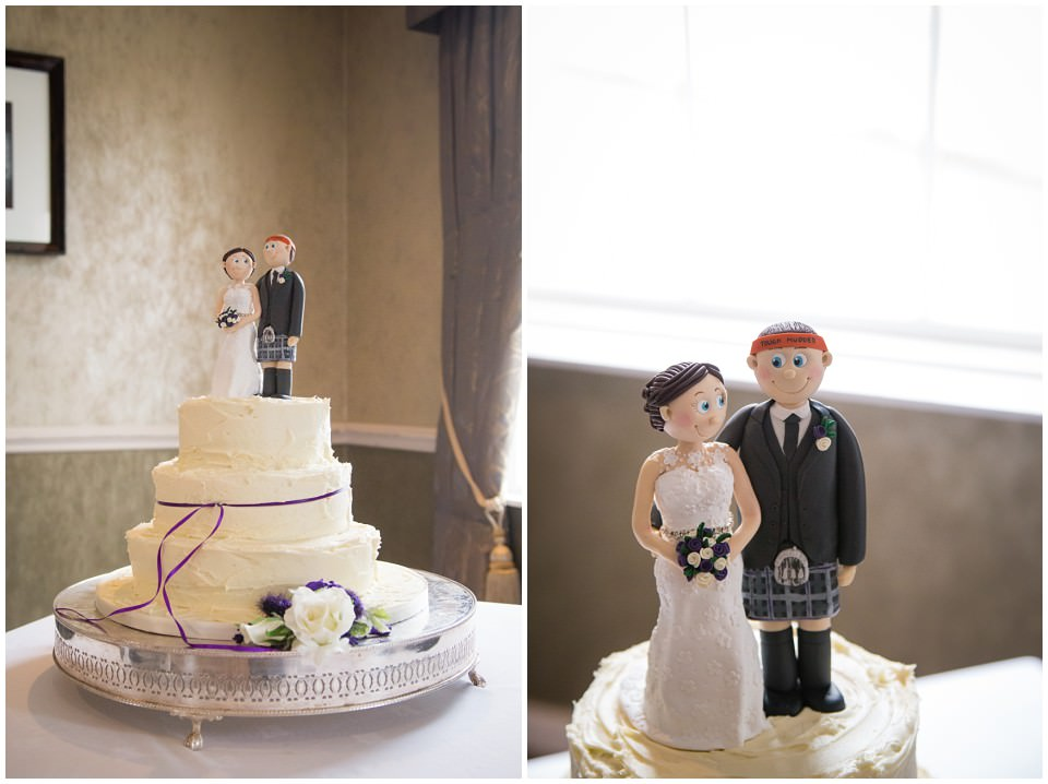 Banchory Lodge Wedding Aberdeen Cake Topper