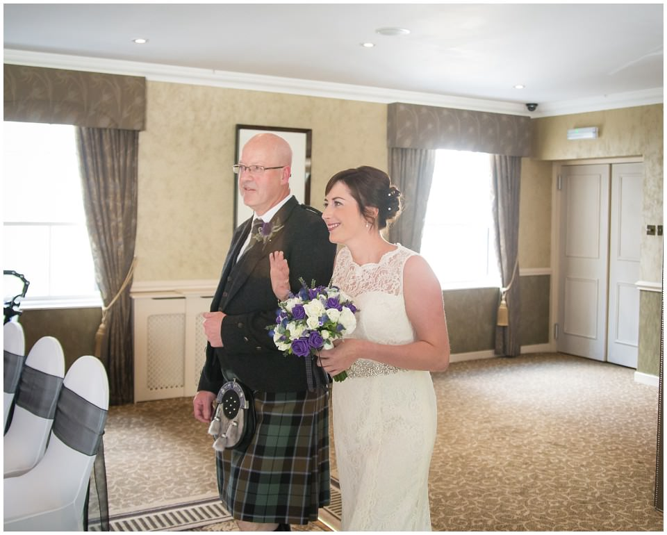 Banchory Lodge Wedding Aberdeen Ceremony Aisle