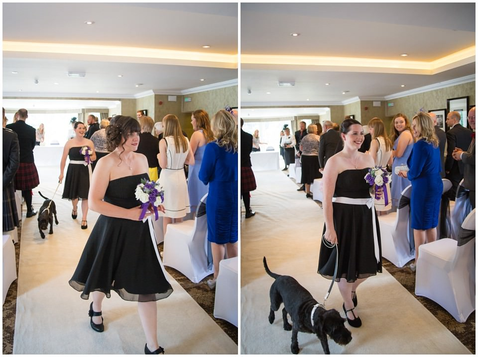 Banchory Lodge Wedding Aberdeen Ceremony Dog