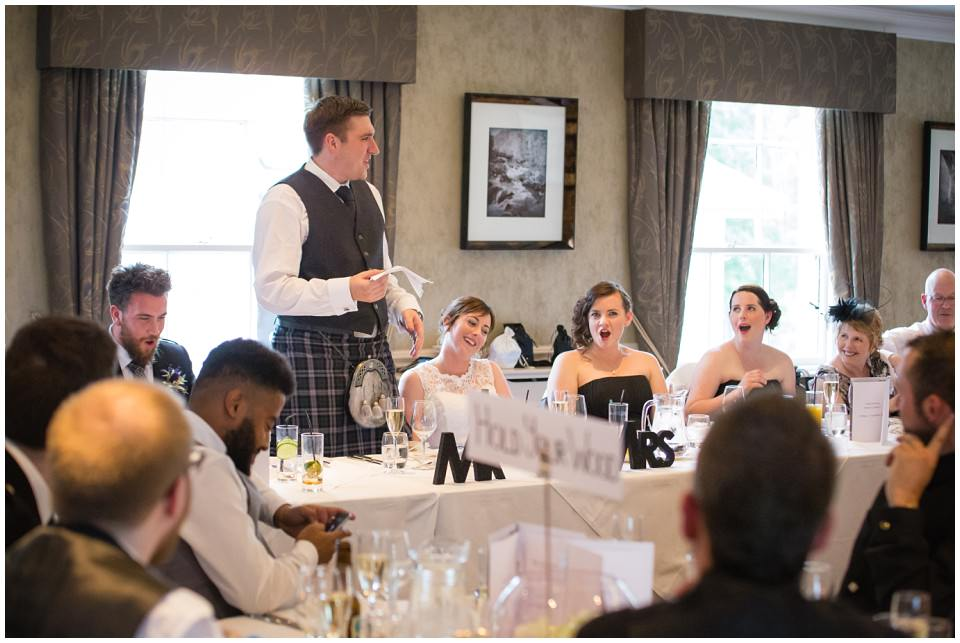 Banchory Lodge Wedding Aberdeen Speeches