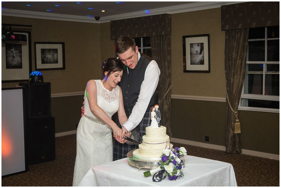 Banchory Lodge Wedding Aberdeen Cake Cutting