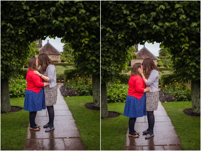 engagement shoot at Royal Botanic Garden Edinburgh