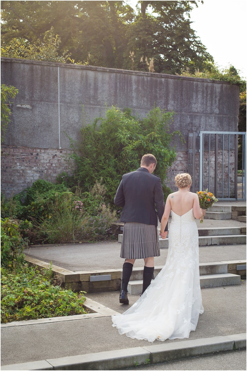 house for an art lover wedding photos vintage glasgow wedding photographer