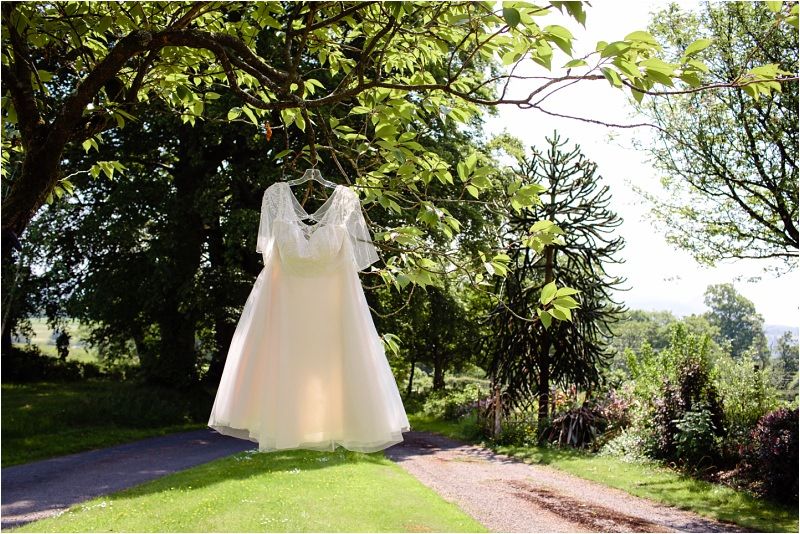 three sisters bake killearn village hall wedding dress hanging from tree