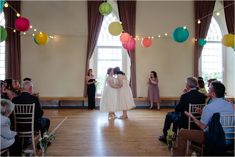 three sisters bake killearn village hall wedding two brides same sex diy