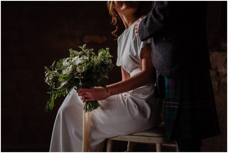 Engine Works Warehouse Wedding Venue Glasgow Flossy Dossy Dress Briar Rose Design Flowers Bouquet A1 Kilt Hire