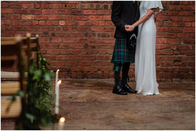 Engine Works Warehouse Wedding Venue Glasgow Flossy Dossy Dress A1 Kilt Hire