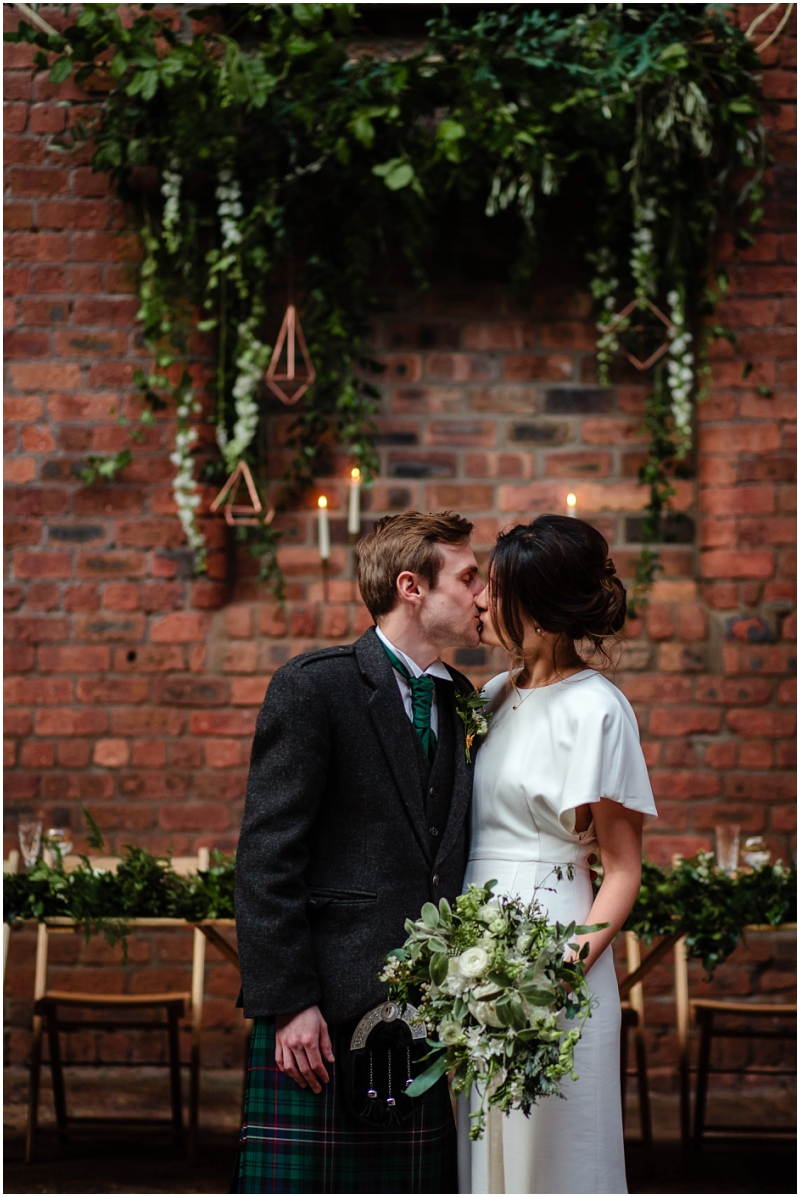 Engine Works Warehouse Wedding Venue Glasgow Briar Rose Design Flowers