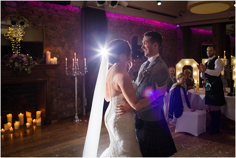 Bride & groom first dance at wedding reception at 29 Private Members Club