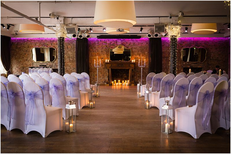 29 Private Members Club, Glasgow dressed for wedding ceremony