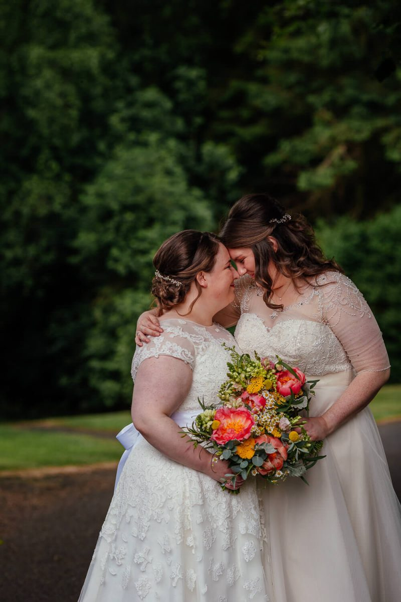 same sex wedding image two brides gay wedding killearn village hall three sisters bake glasgow wedding photography