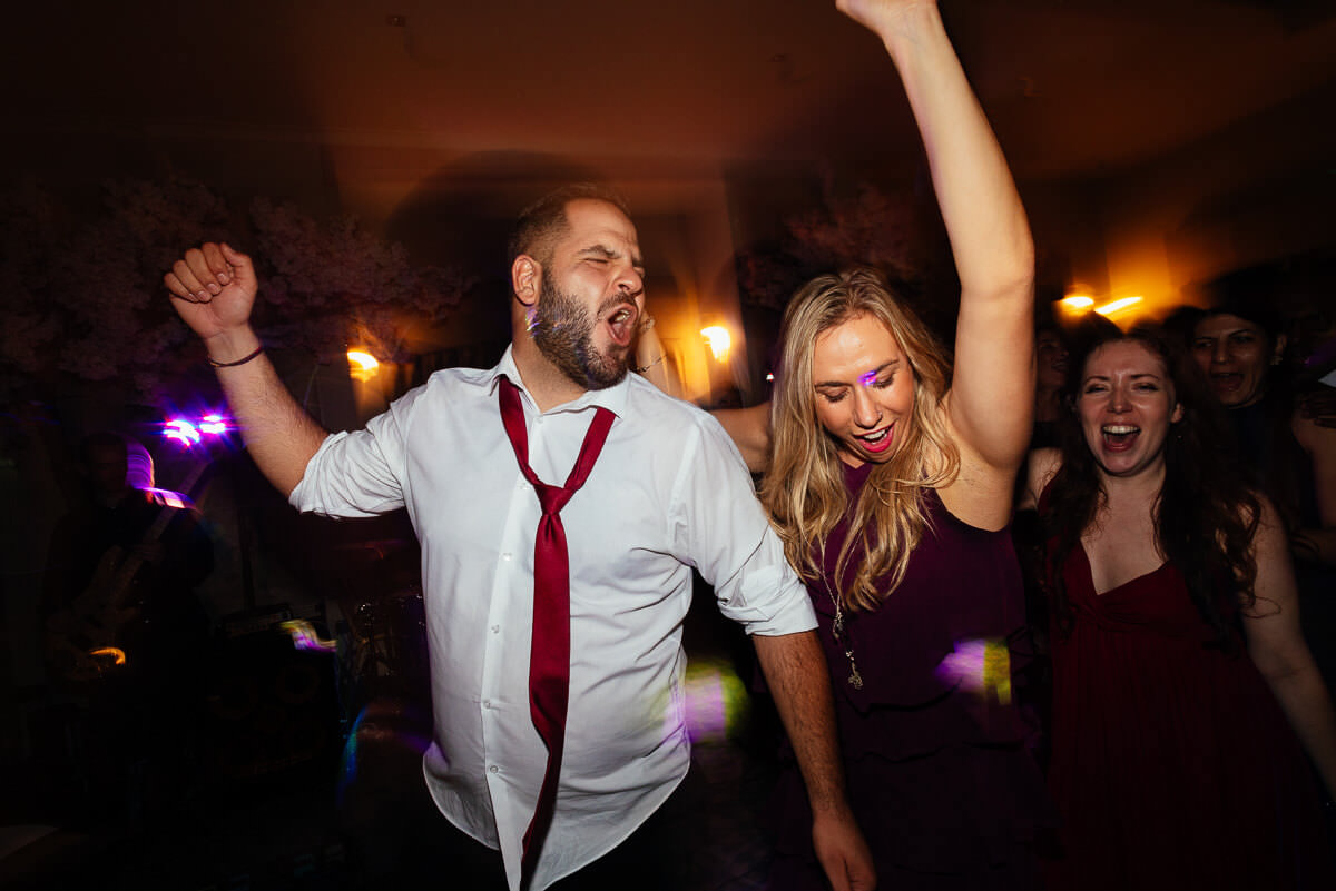 wedding reception evening dance greek fun at maryculter house hotel aberdeen