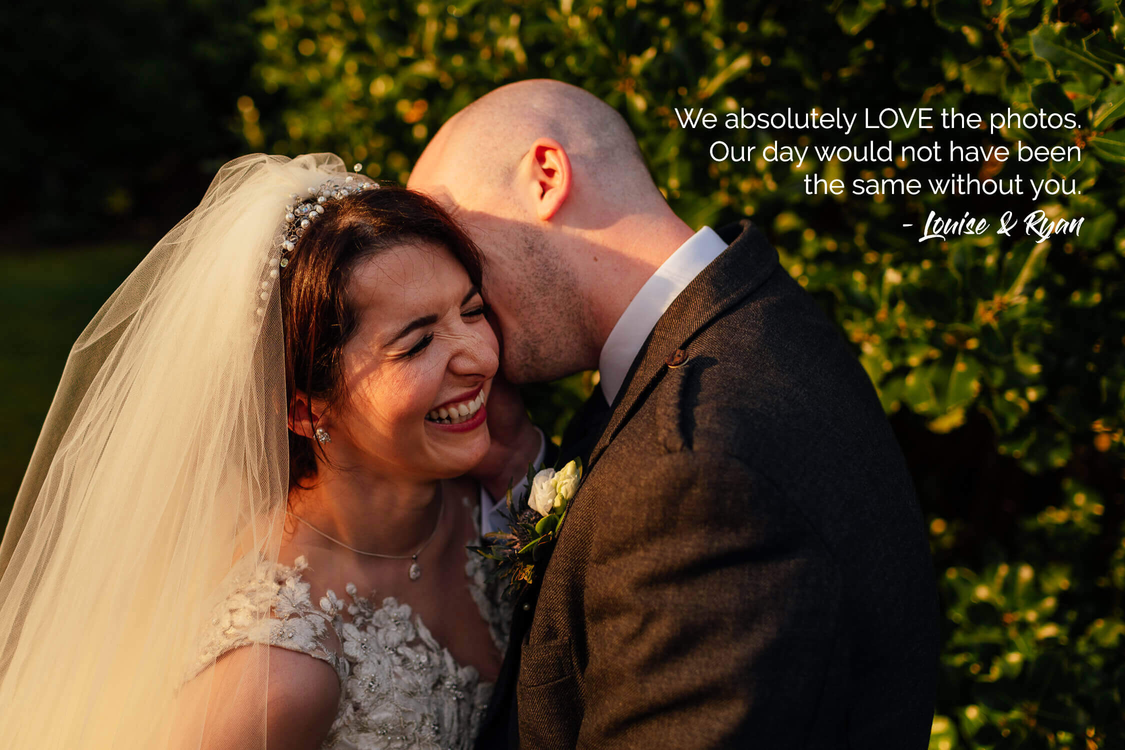 colourful wedding photographer glasgow fotomaki photography reviews feedback from wedding clients bride groom laughing in garden at sherbrooke castle hotel