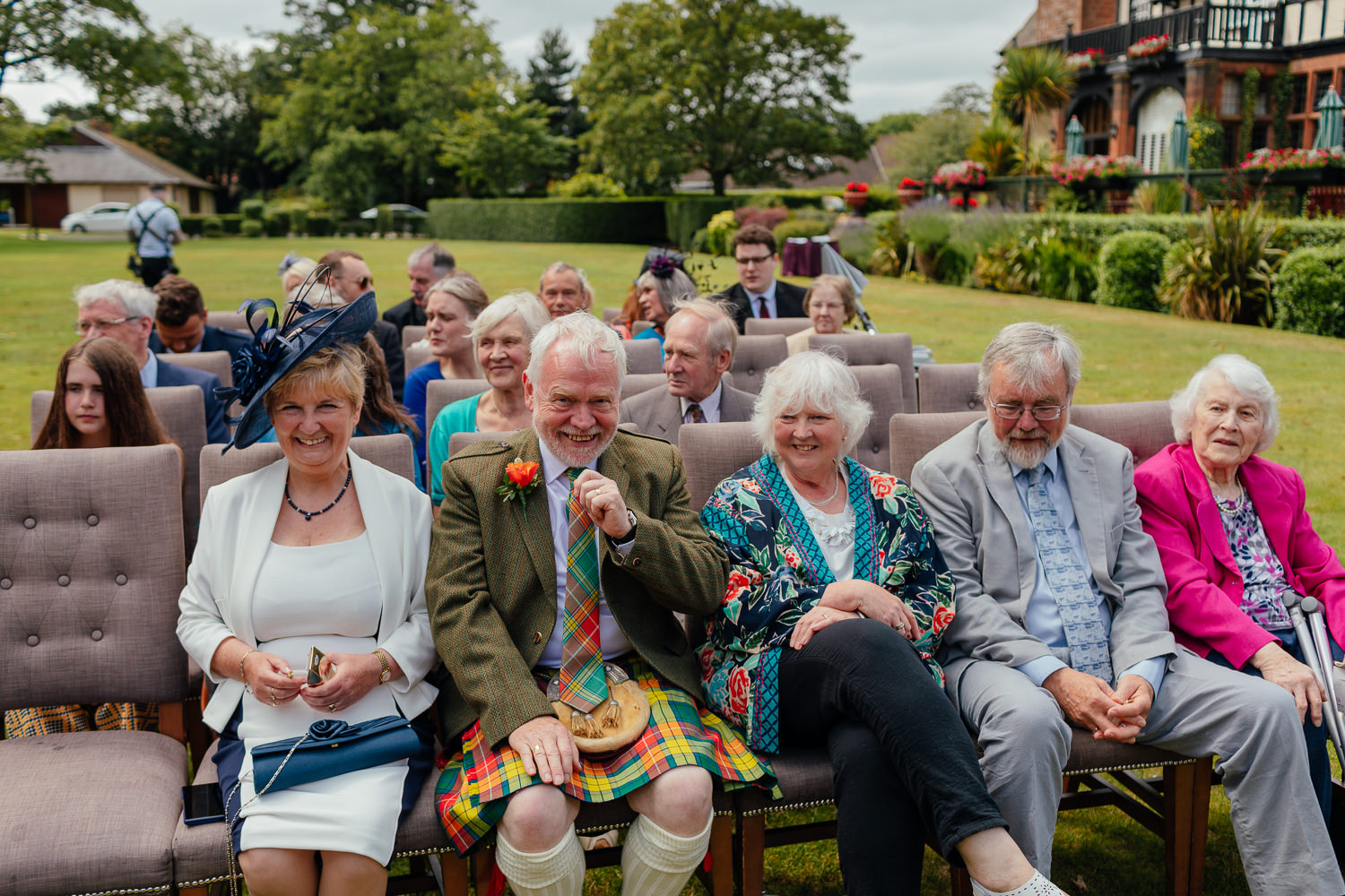 Ayrshire Wedding Piersland House Troon Outdoor Ceremony