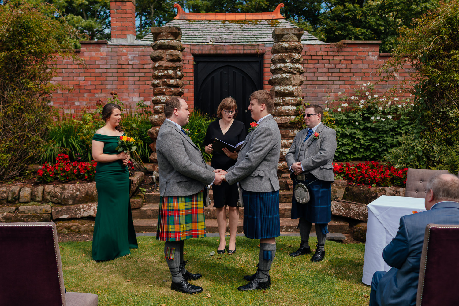 Ayrshire Wedding Piersland House Troon Outdoor Ceremony Same Sex Gay Wedding