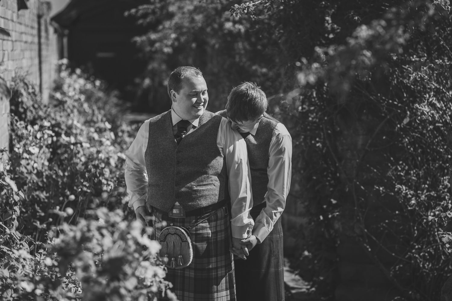 Ayrshire Wedding Piersland House Troon Outdoor Portraits Same Sex Gay Wedding