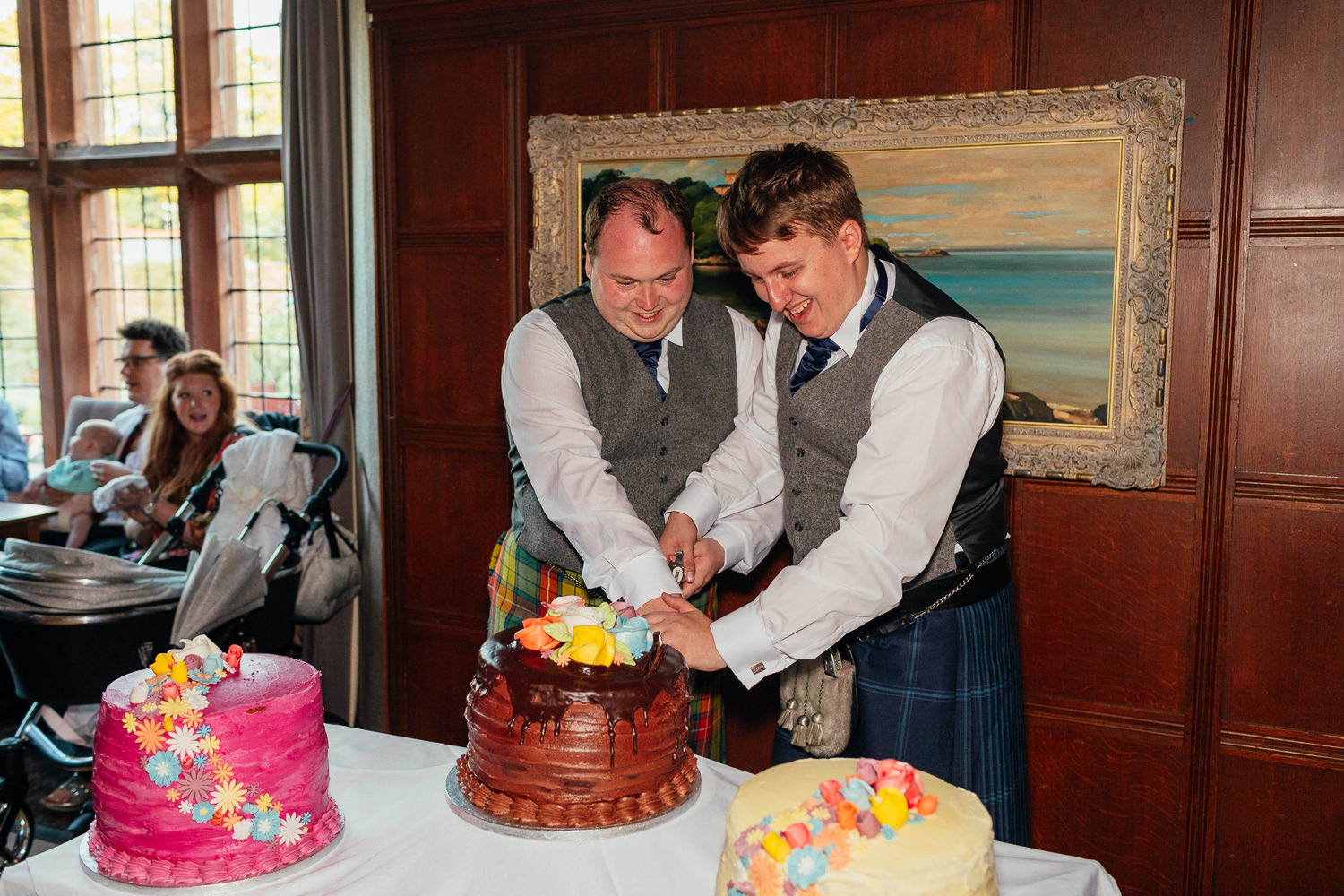Ayrshire Wedding Piersland House Troon Same Sex Gay Wedding Cake Cutting