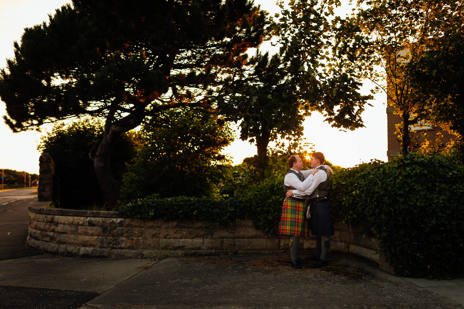 Ayrshire Wedding Piersland House Troon Same Sex Gay Wedding Sunset Golden Hour Portraits