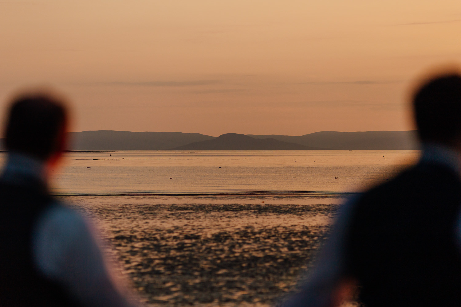 Ayrshire Wedding Troon Beach Arran Same Sex Gay Wedding Sunset Golden Hour Portraits