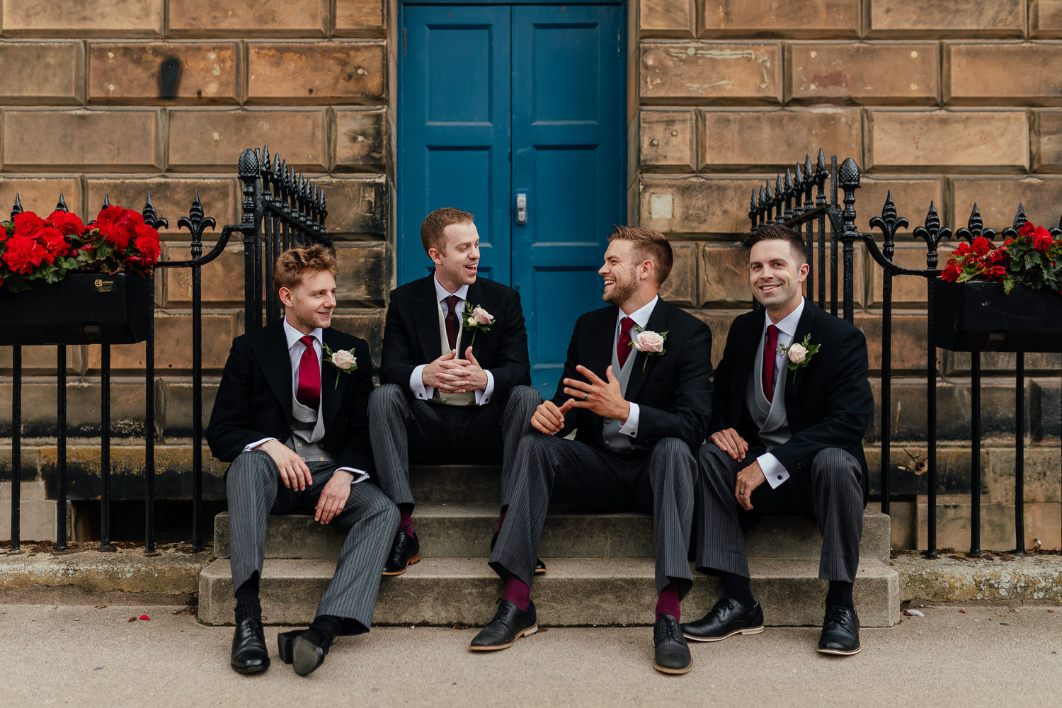 St Andrews Wedding Photos Groom Groomsmen Group Photo