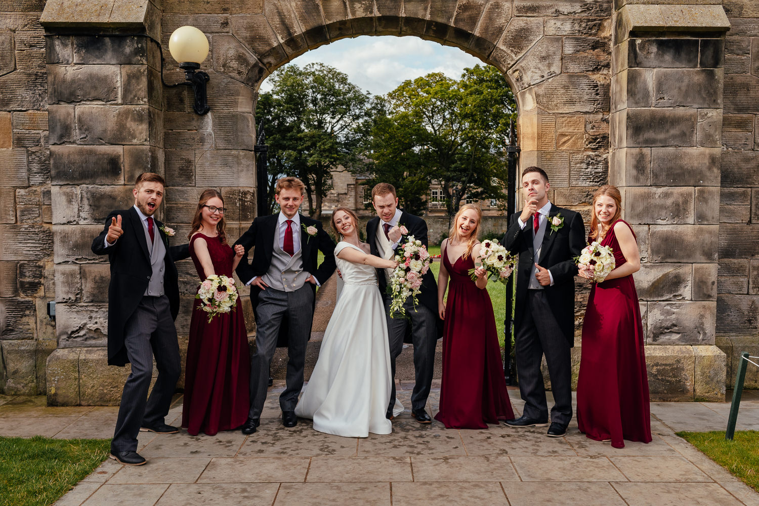 St Andrews Wedding St Salvators Hall Bridal Party Group Shots
