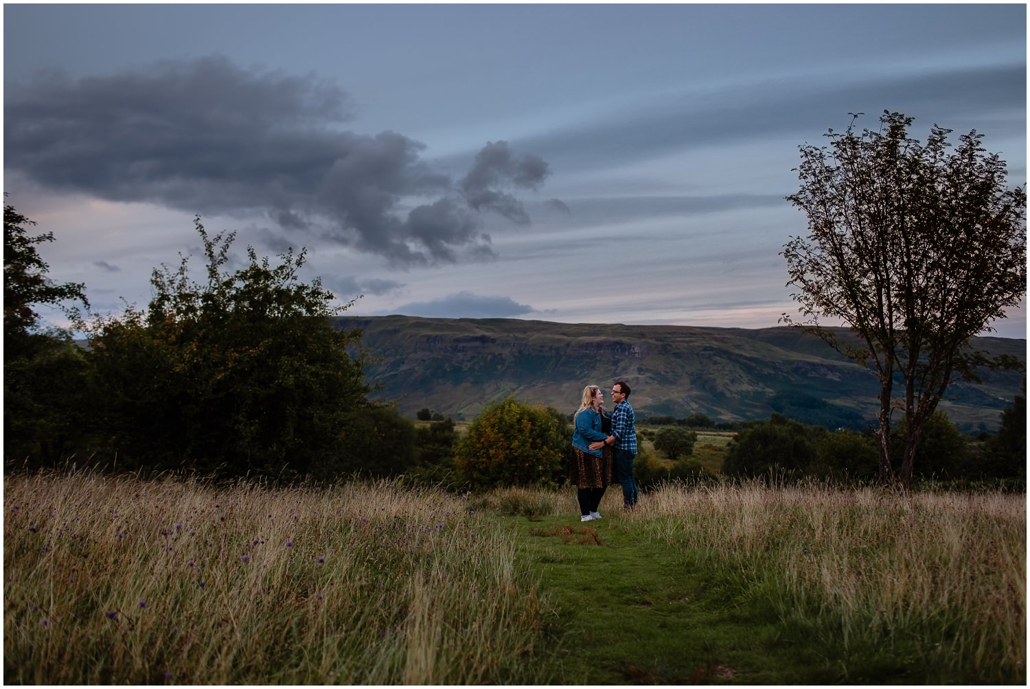 Campsie Fells Adventure Photoshoot Couples Engagement Photos
