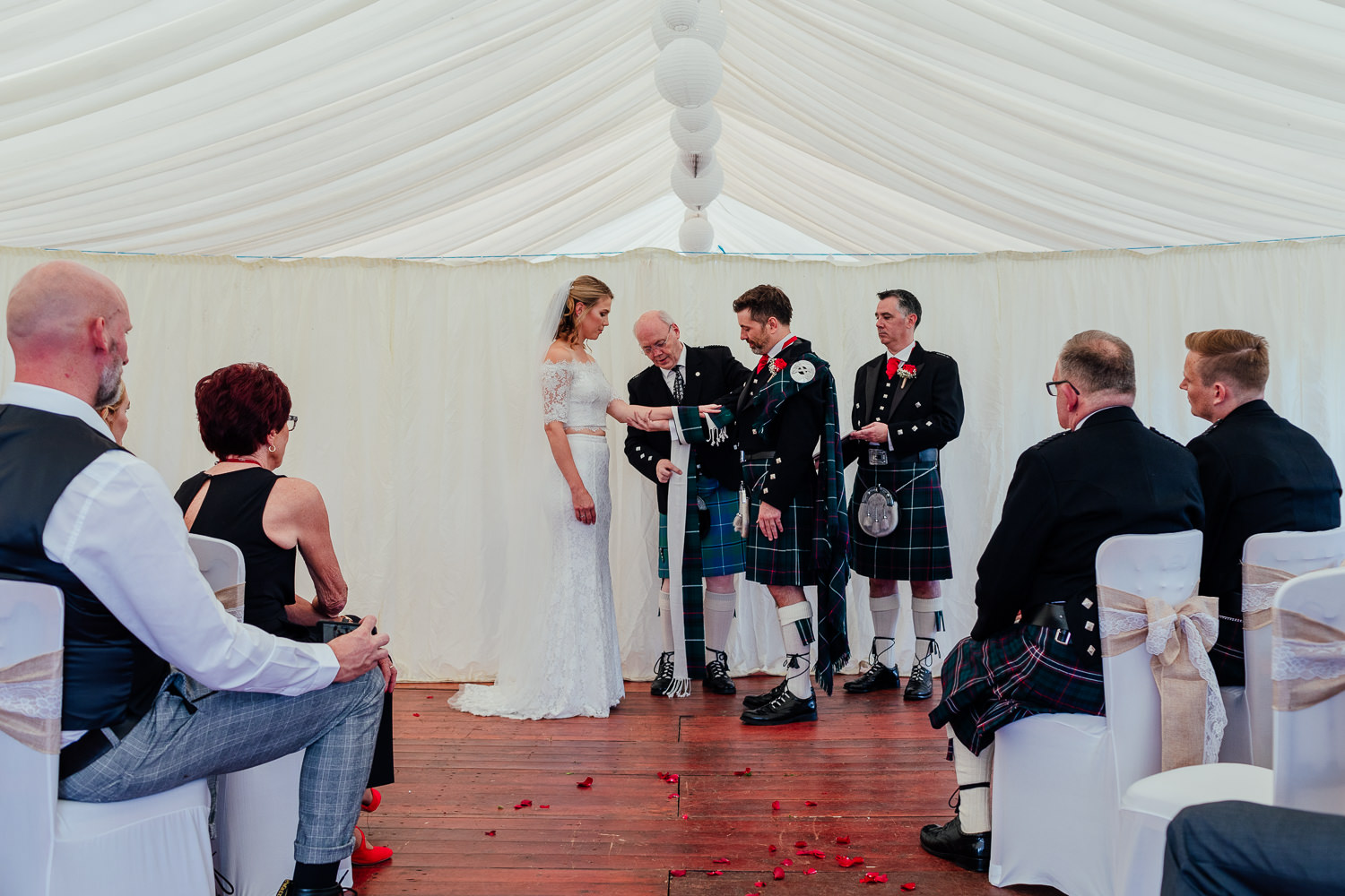 aberdeenshire farm wedding ceremony handfasting