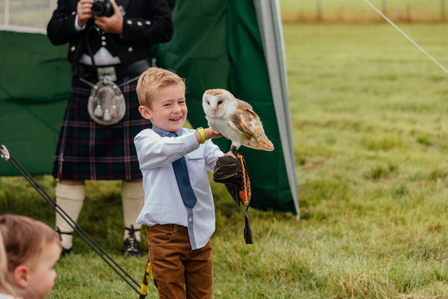 aberdeenshire farm wedding birds of prey display