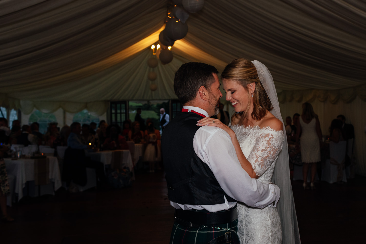 aberdeenshire farm wedding reception first dance