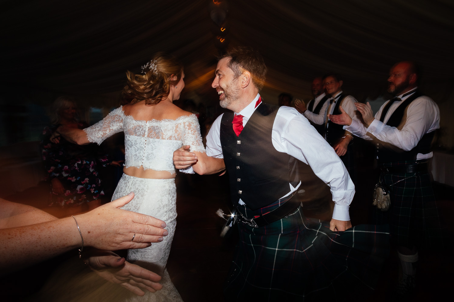 aberdeenshire farm wedding ceilidh dancing evening reception