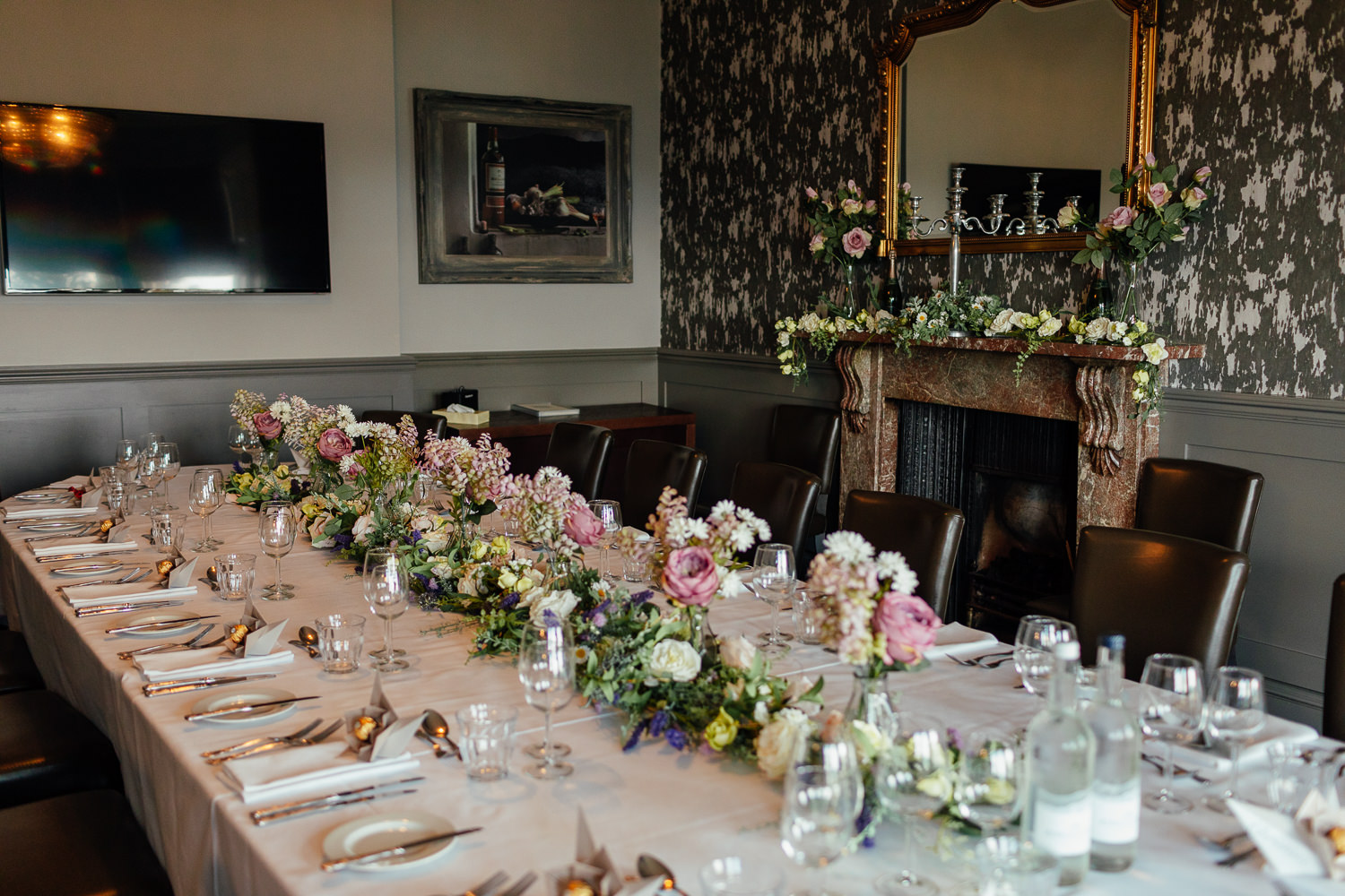 hotel du vin st andrews interior private dining room micro wedding reception setup