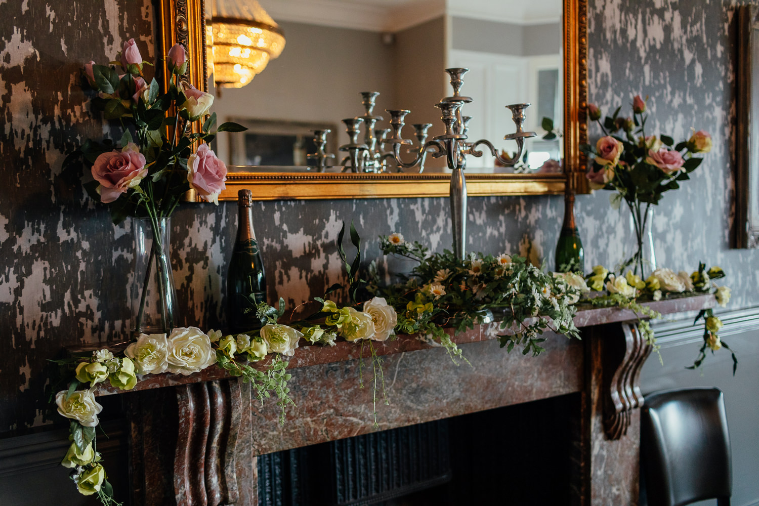 hotel du vin st andrews interior private dining room wedding reception setup fireplace