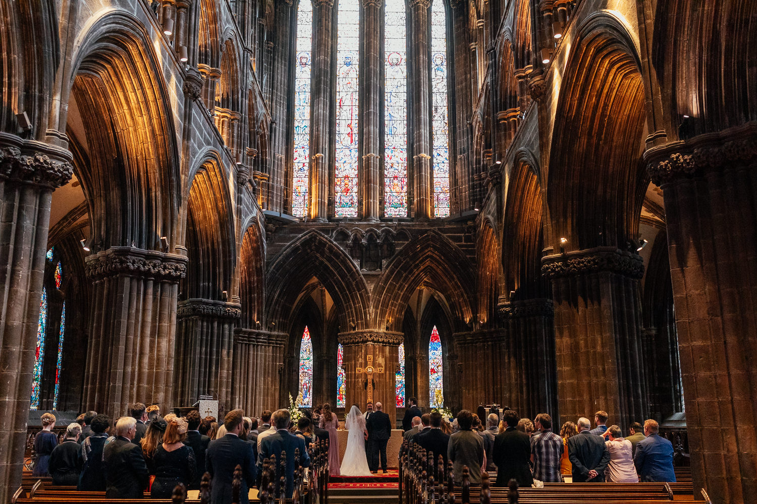 Glasgow Cathedral wedding ceremony