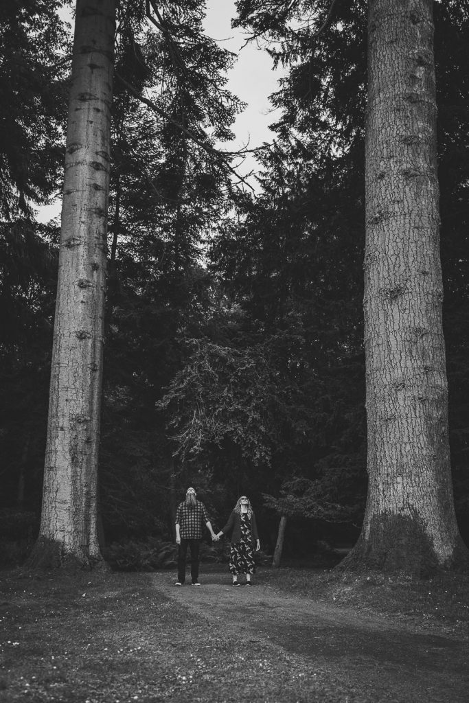 Perth Scone palace couples shoot in woods