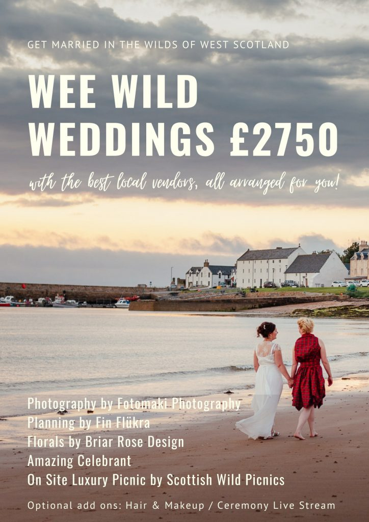 elope to scotland all inclusive mini wedding package photographer florist planner humanist celebrant catering luxury picnic