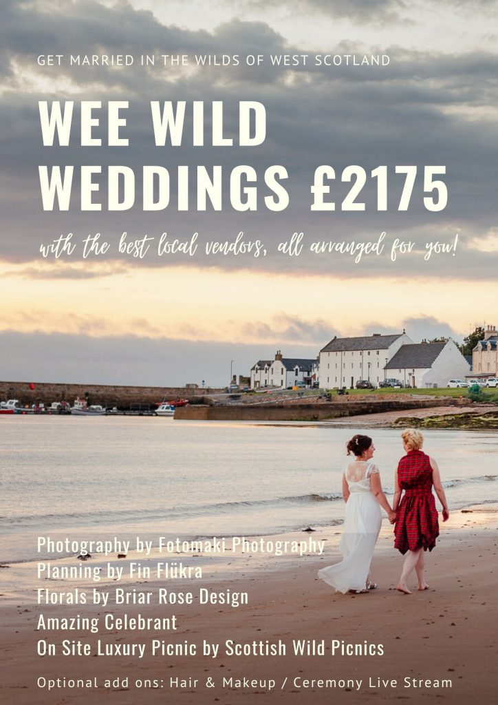 get married in scotland elope to scotland mini wedding package