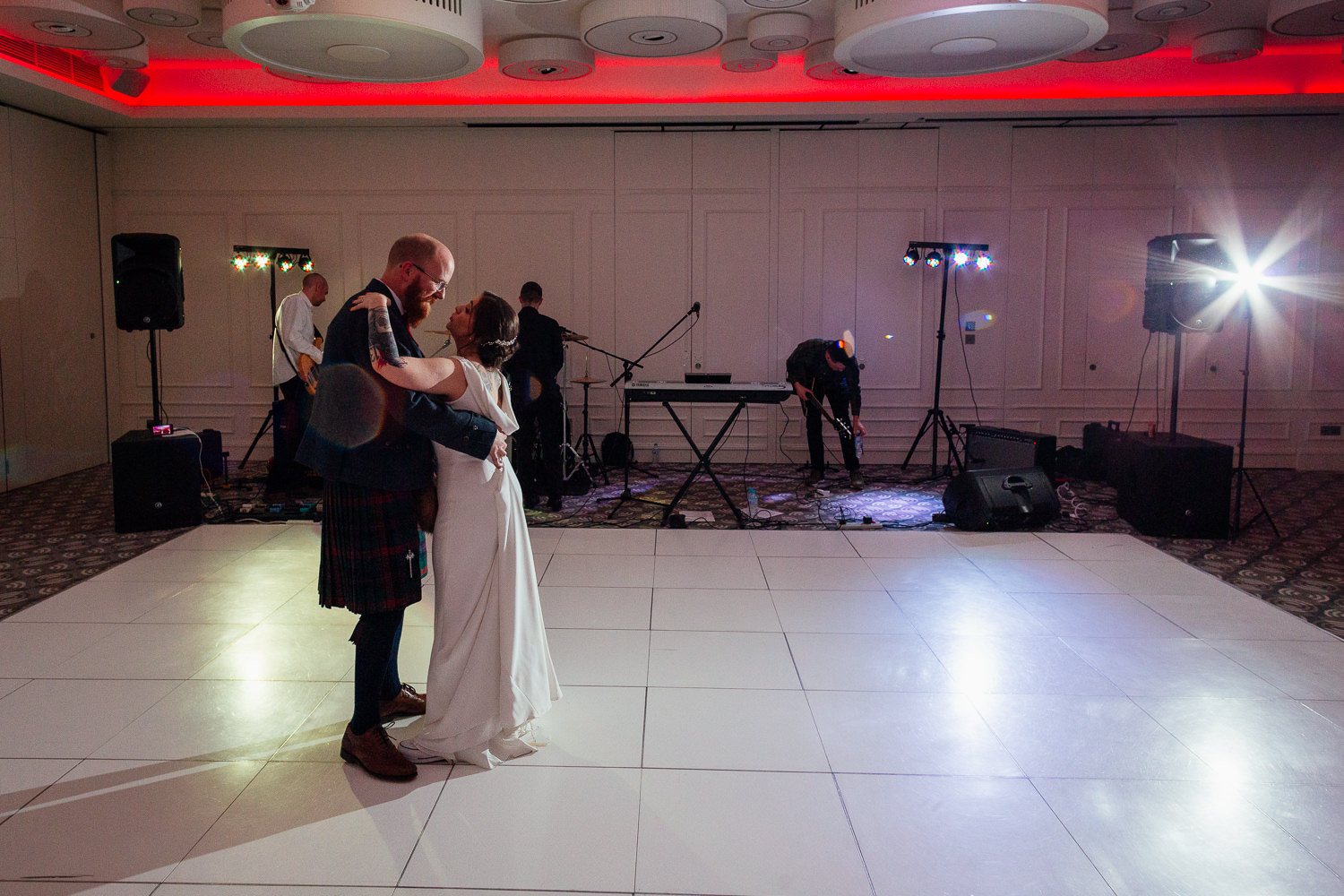 rock music wedding bride groom first dance chester hotel wedding aberdeen