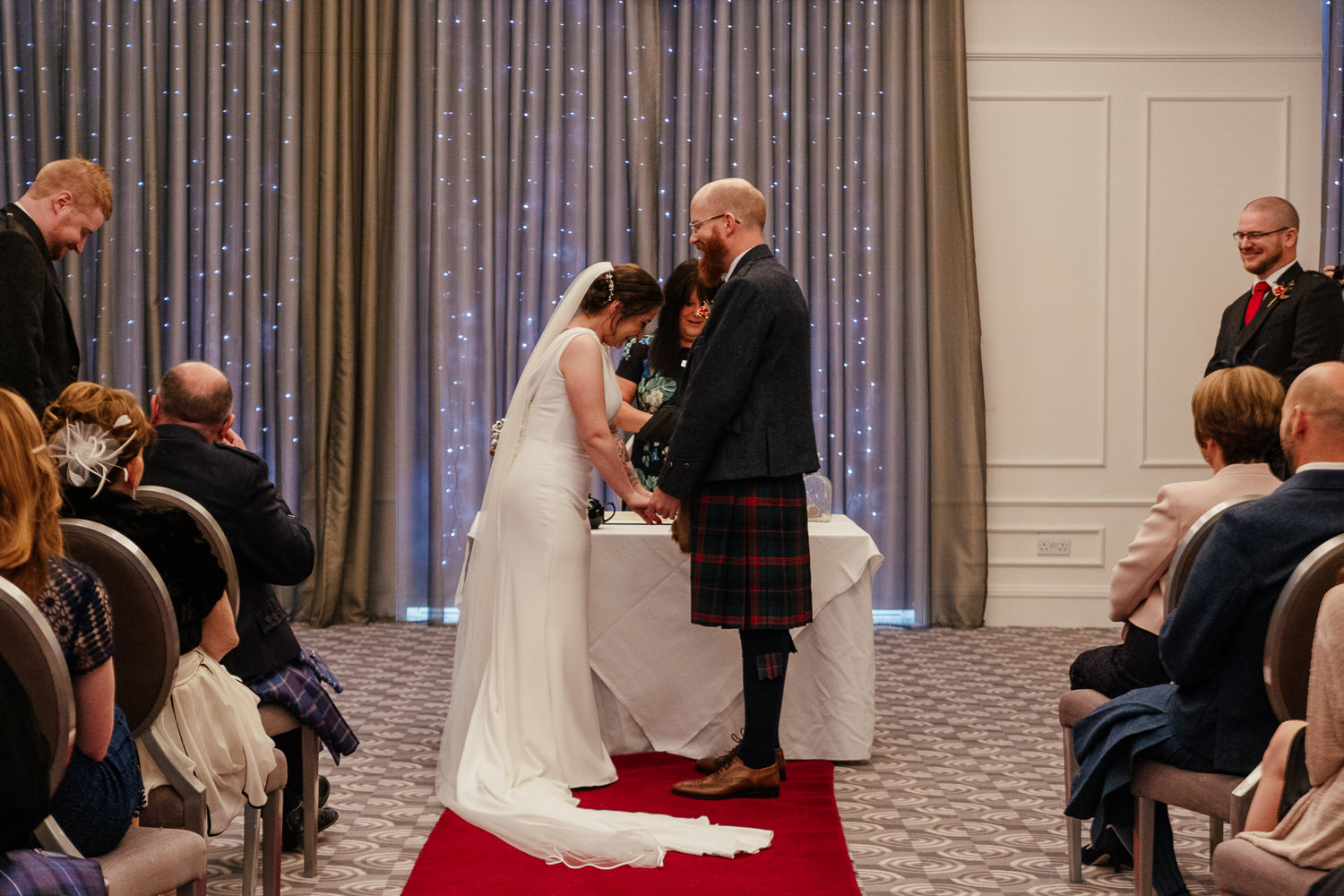 chester hotel wedding ceremony aberdeen interior function room granite suite