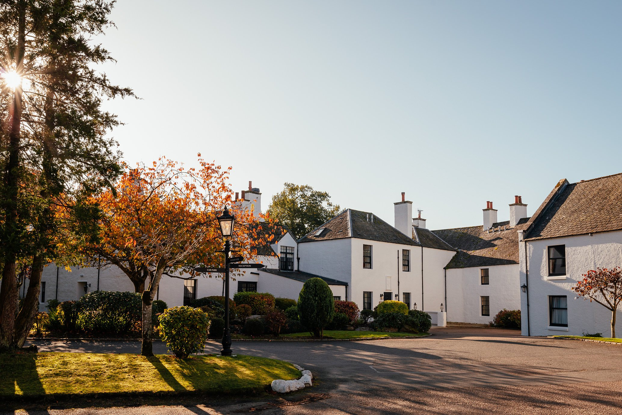 maryculter house hotel aberdeenshire wedding venue exterior sunny october