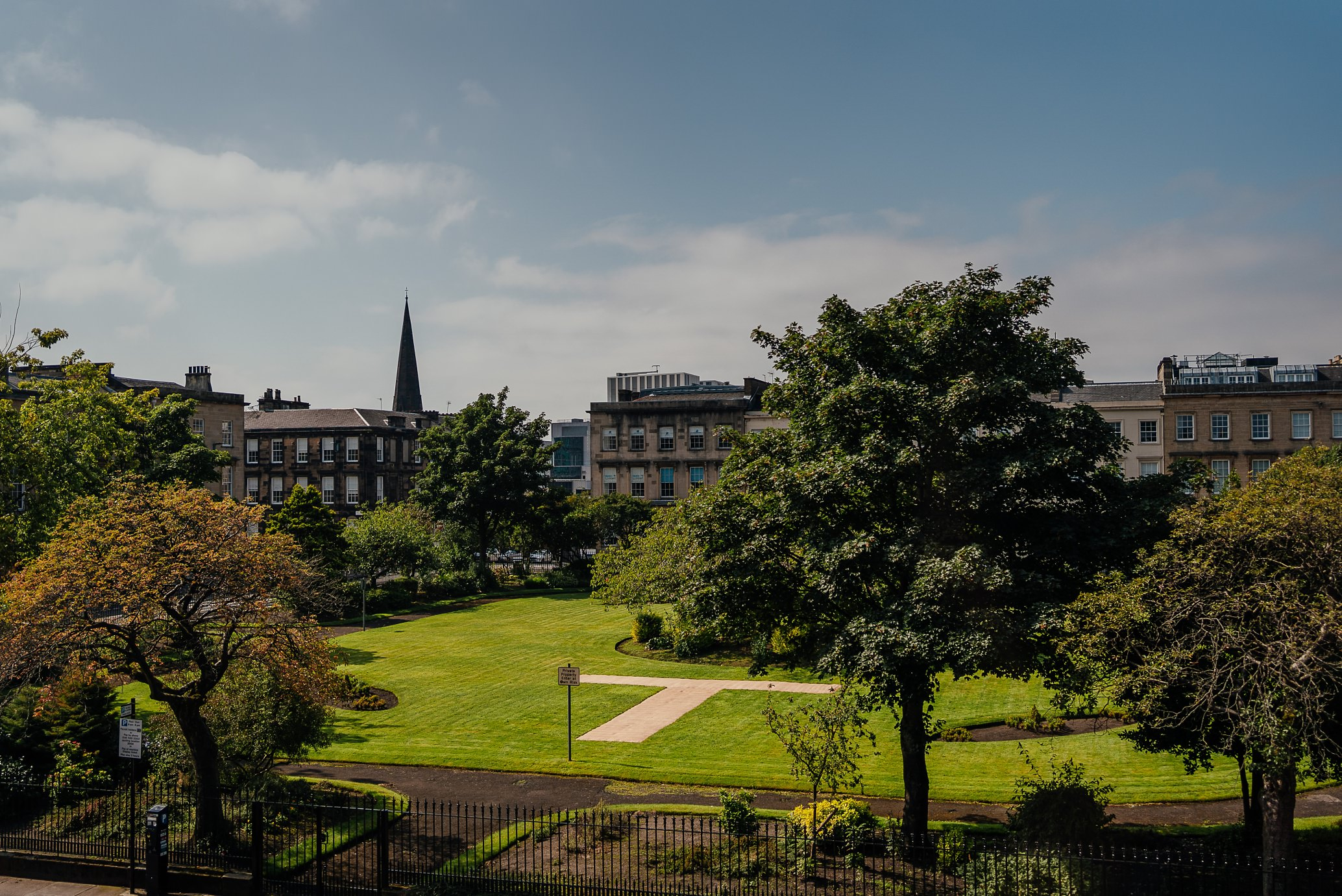 blythswood square glasgow private gardens wedding ceremony view from blythswood hotel